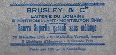 17-Brusley (Emballage beurre Montguyon)