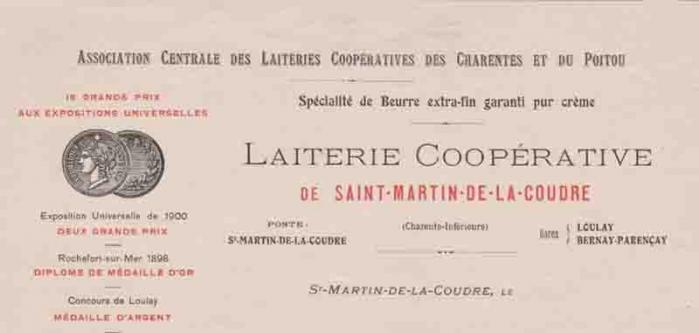 17-Saint-Martin de la Coudre  (en-tête lettre)