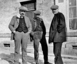 1915 ca Léon Mallet à gauche Jules Mallet à droite