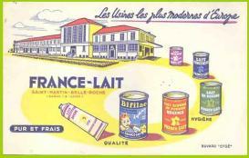 Buvard-09 france-lait
