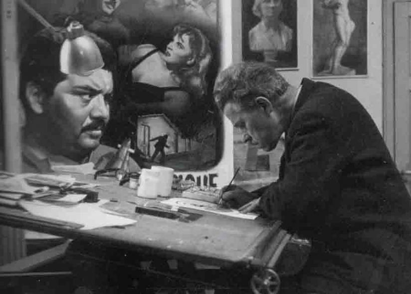Jacques Bonneaud dans son atelier