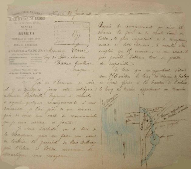 Le Masne de Brons (lettre 1912)