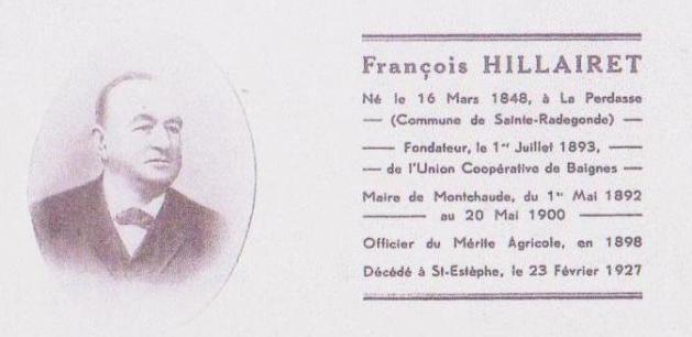 Photo de Hillairet Francois fondateur de la laiterie baignes 16