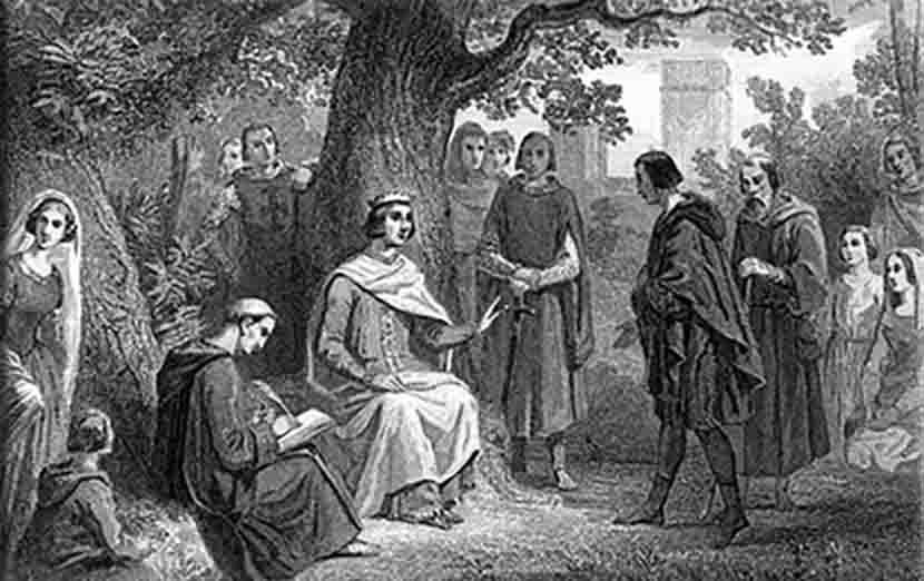 Roi Saint-Louis et le chêne